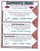 Geometric Mean & Triangle Altitudes Doodle Notes or Graphic Organizer