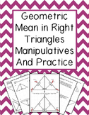 Geometric Mean in Right Triangles