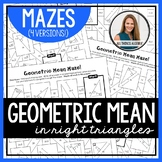 Geometric Mean in Right Triangles Mazes