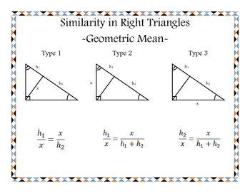 Geometric Mean with Right Triangles