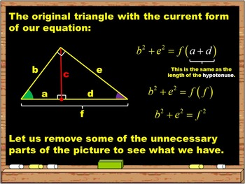 Geometric Means and the Pythagorean Theorem