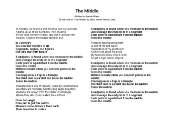 Geometric Measurements to the Middle Song (lyrics only)
