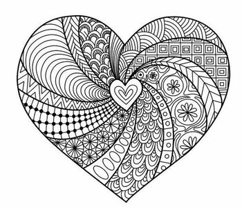Social-Emotional Activity: Geometric Mindful Zentangle Worksheets
