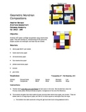 Geometric Mondrian Paper Collage