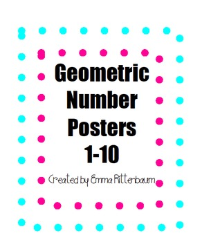 Geometric Number Posters 1-10