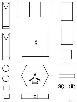 Geometric Nutcracker for Christmas 2D Shapes