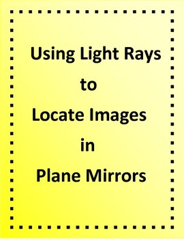 Science Optics - Using Light Rays to Locate Images in a Plane Mirror
