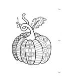 Geometric Pattern Pumpkin Coloring Sheet