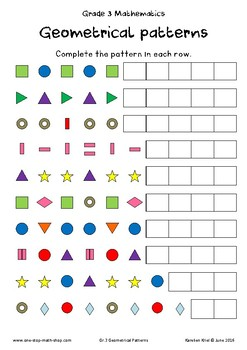 Geometric Patterns (Grade 3)