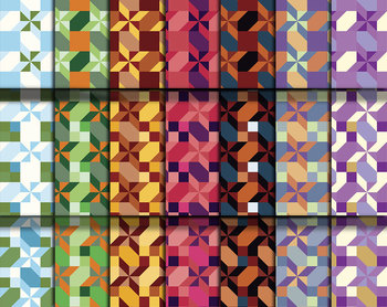 """Geometric Patterns Digital Craft Papers • 21, 12 x 12"""" 300 DPI Clip Art Pages"""