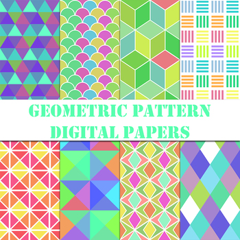 Geometric Patterns Digital Paper / Clip Art / Collection