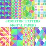 Geometric Patterns Digital Paper / Clip Art / Collection