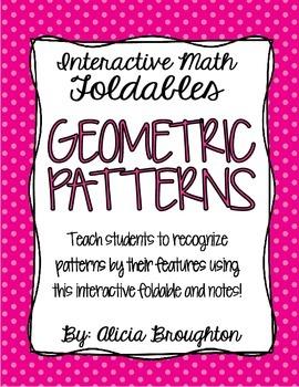 Geometric Patterns Interactive Math Foldable