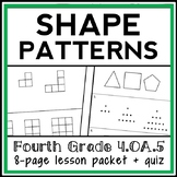 Geometric Patterns Lesson, 4th Grade Shape Patterns Lesson Packet, 4.OA.5
