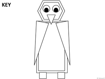Geometric Penguin For Winter 2D Shapes