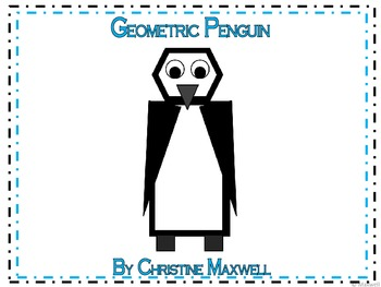 Geometric Penguin For Winter 2D Shapes