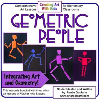 art lesson geometric people integrating art and geometry tpt