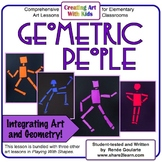 Art Lesson - Geometric People - Integrating Art and Geometry