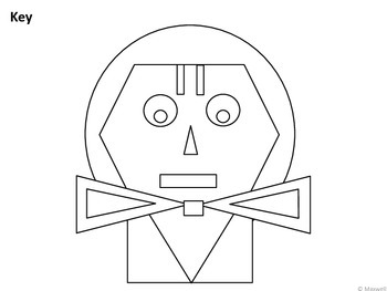 Thanksgiving Geometric Pilgrim Girl 2D Shapes