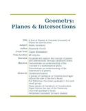 Geometric Planes and Intersections Lesson Plan