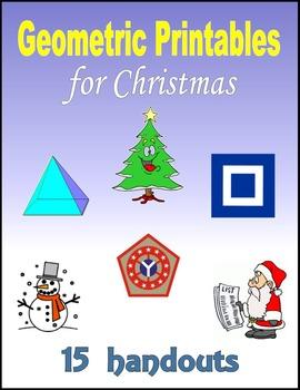 Geometric Printables for Christmas