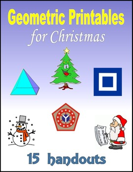 Geometric Printables for Christmas