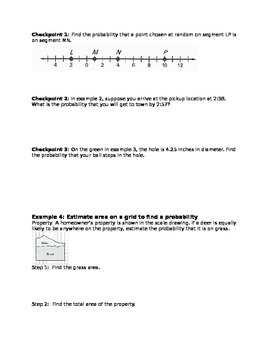 Geometric Probability Note Guide