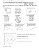 Geometric Probability Worksheet Spring 2012 (Editable)