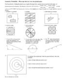 Geometric Probability Worksheet Spring 2012 with Answer Key (Editable)