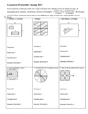 Geometric Probability Worksheet Spring 2013 (Editable)