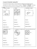 Geometric Probability Worksheet Spring 2013 with Answer Ke