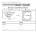 Geometric Probability Worksheet Spring 2014 Student Notes with Key (Editable)