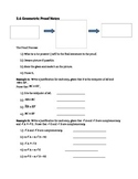 Geometric Proof Notes with Graphic Organizer and Answer Key
