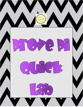 Geometric Proof of Pi - Quick Lab Activity - Perfect for Pi Day or Anytime