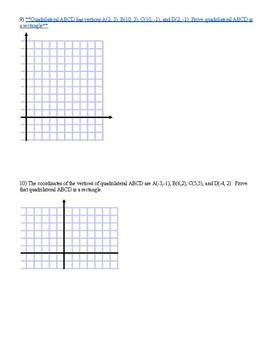 Geometric Proofs in the Coordinate Plane
