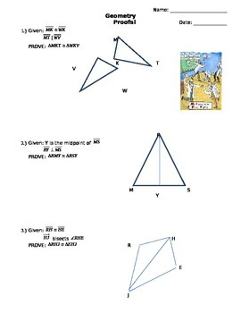 Geometric Proofs with Triangle Congruence