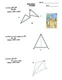 Geometric Proofs with Triangle Congruence