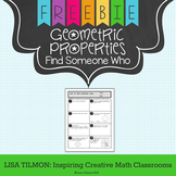 Geometric Properties Find Someone Who Activity