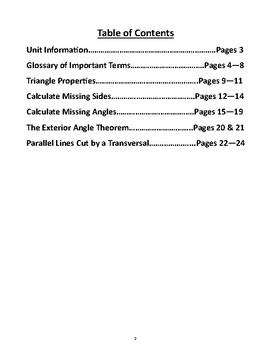 Geometric Properties Unit Book