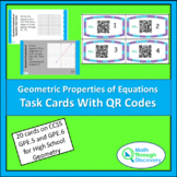Geometric Properties of Equations Task Cards with QR Codes