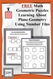FREE Math Geometric Puzzles - Learning About Plane Geometry Using Number Tiles