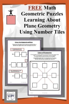 Geometric Puzzles- FREE: Learning About Plane Geometry Using Number Tiles by Scipi - Science and Math