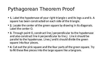 Geometric Pythagorean Theorem Proof