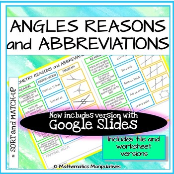 Geometric Reasons and Abbreviations Match-Up