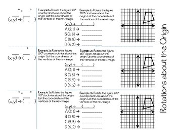 Geometric Rotation Foldable for CW and CCW