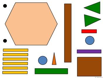 Geometric Scarecrow 2D Shapes