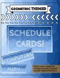 Geometric Schedule Cards