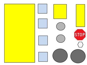 Geometric School Bus 2D Shapes