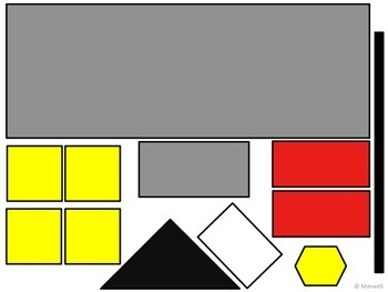 Geometric School for the Begin and End of the School Year 2D Shapes