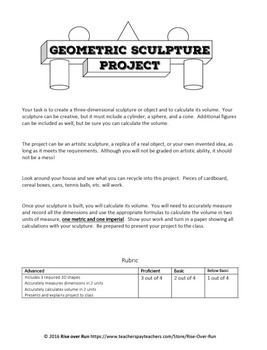 Volume Project: Geometric Sculpture, Free